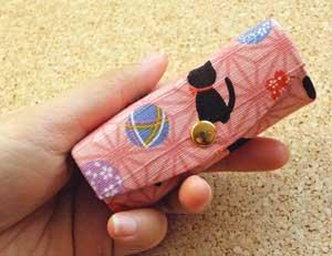 リップケース【紀州てまりと子猫】桃