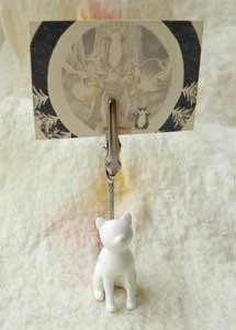 メモクリップ【おすわり猫】白