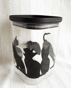 アクリルキャニスター【Mサイズ】黒猫シルエット