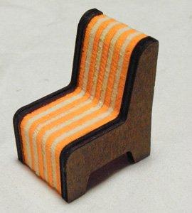 猫フィギュア用しましま椅子
