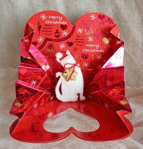 クリスマスカード【プレゼントは白猫サンタ】