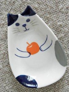 豆皿【まんまる猫の実】りんご