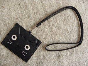 ネコミミIDカードホルダー【ブラック】