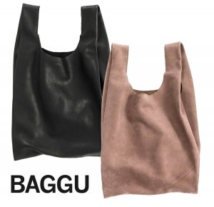 BAGGU(バグゥ)本革レザーエコバッグ/Leather Baggu/レジバッグ/バグー<img class='new_mark_img2' src='https://img.shop-pro.jp/img/new/icons16.gif' style='border:none;display:inline;margin:0px;padding:0px;width:auto;' />