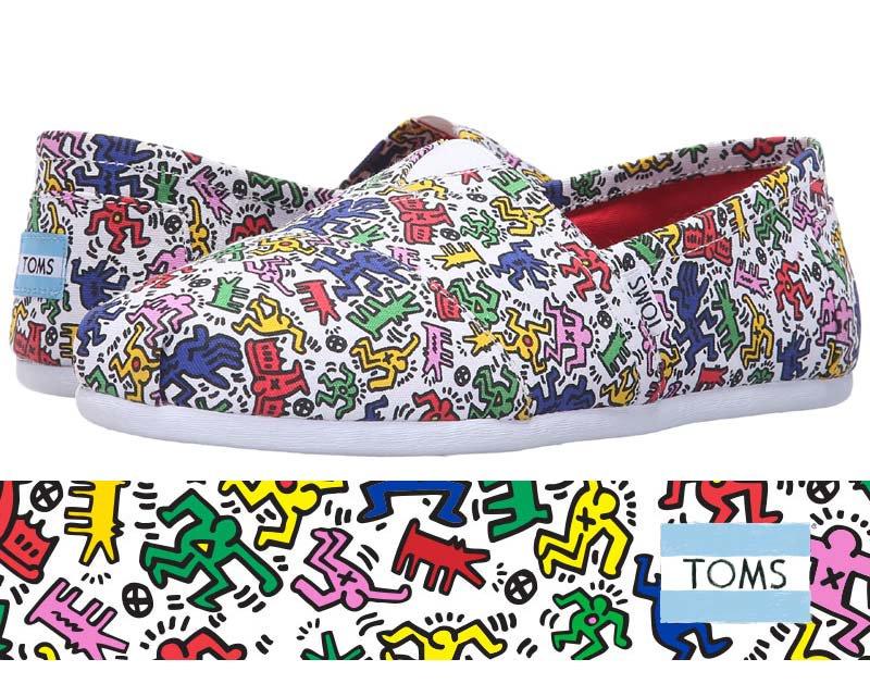 トムズ×キースへリング(Toms×KEITH HARING)キャンバススリッポンシューズ/Classic Keith Haring Pop