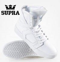 スープラ(Supra)SKYTOP2 II レザースニーカー/ホワイト×ホワイト/メンズサイズ