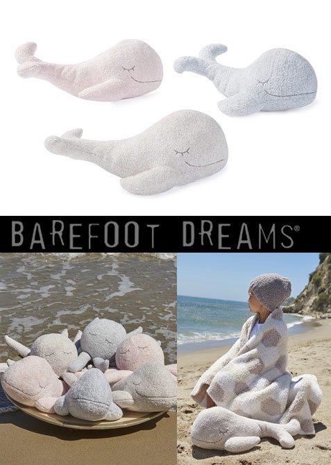 ベアフットドリームス(Barefoot Dreams)くじら型ぬいぐるみ/COZYCHICR WHALE BUDDIE