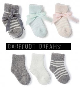 ベアフットドリームス(Barefoot Dreams)ベビー用靴下3足セット/0-12カ月/BAMBOO CHIC LITE INFANT SOCK SET<img class='new_mark_img2' src='https://img.shop-pro.jp/img/new/icons16.gif' style='border:none;display:inline;margin:0px;padding:0px;width:auto;' />