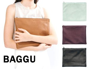 BAGGU(バグゥ)本革レザークラッチバッグ/ラージフラットポーチ/Large Flat Pouch/バグー<img class='new_mark_img2' src='https://img.shop-pro.jp/img/new/icons16.gif' style='border:none;display:inline;margin:0px;padding:0px;width:auto;' />