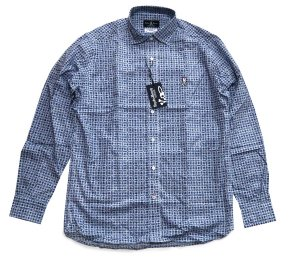 サイコバニー(Psycho Bunny)メンズ長袖シャツ/Pattern Print Sport Shirt/ブルー<img class='new_mark_img2' src='https://img.shop-pro.jp/img/new/icons16.gif' style='border:none;display:inline;margin:0px;padding:0px;width:auto;' />