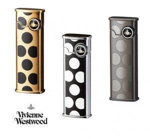 ヴィヴィアンウエストウッド(Vivienne Westwood)ドット柄ガスライター(ゴールド/シルバー/ガンメタル)