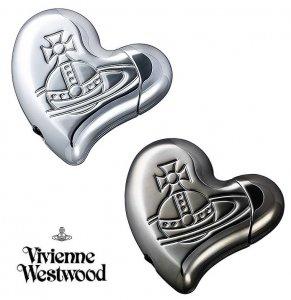 ヴィヴィアンウエストウッド(Vivienne Westwood)ハートシェイプライター/シルバー&ガンメタル