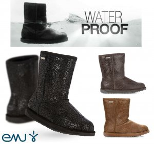 EMU(エミュー)完全防水レオパード柄ムートンブーツ/Paterson Leopard Boots/雨、雪にも対応できるシープスキンレインブーツ<img class='new_mark_img2' src='//img.shop-pro.jp/img/new/icons16.gif' style='border:none;display:inline;margin:0px;padding:0px;width:auto;' />