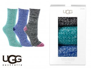UGG(アグ)ソックス3足セット/ギフトボックス付き靴下/WOMEN'S CREW SOCK GIFT SET<img class='new_mark_img2' src='https://img.shop-pro.jp/img/new/icons16.gif' style='border:none;display:inline;margin:0px;padding:0px;width:auto;' />