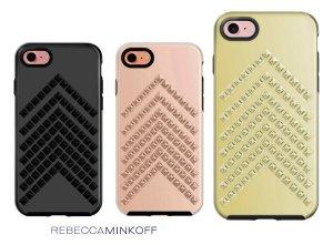 クリアランス/レベッカミンコフ(Rebecca Minkoff)iPhone7、8ケース/スタッズ付/ローズゴールド、ブラック、ゴールド<img class='new_mark_img2' src='https://img.shop-pro.jp/img/new/icons16.gif' style='border:none;display:inline;margin:0px;padding:0px;width:auto;' />