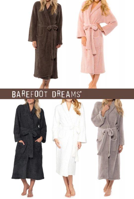 ベアフットドリームス(Barefoot Dreams)バスローブ/cozychicロングガウン/ブラウン、ピンク、ダークブルー、ホワイト、グ…