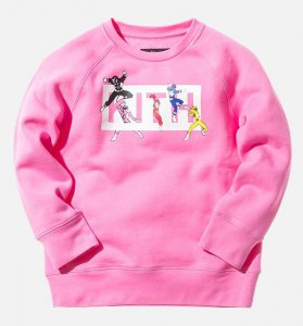 Kith NYC(キス)キッズスウェットトレーナー/10〜11才サイズ/Kidset x Power Rangers Crewneck/子供服(ピンク)<img class='new_mark_img2' src='//img.shop-pro.jp/img/new/icons16.gif' style='border:none;display:inline;margin:0px;padding:0px;width:auto;' />