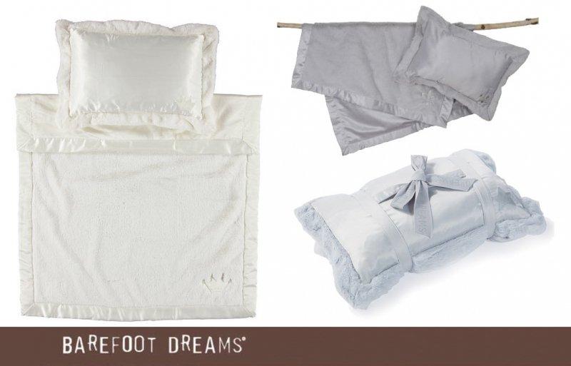 ベアフットドリームス(Barefoot Dreams)ピロー&ブランケット2点セット/携帯用/キッズ用