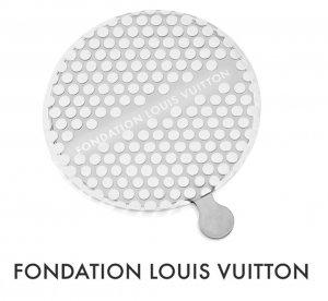 パリ限定!LOUIS VUITTON/ルイヴィトン美術館/ポケットミラー/手鏡/FONDATION LOUIS VUITTON