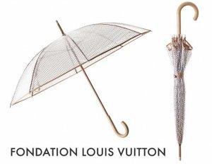 パリ限定!LOUIS VUITTON/ルイヴィトン美術館/ビニール傘/クリアアンブレラ/FONDATION LOUIS VUITTON/ Clear Umbrella