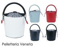 【2017年新作/即納】Pelletteria Veneta(ペレッテリア ベネタ) 本革バケツバッグ/2wayレザーバッグ/マリン/ストライプ/M00…