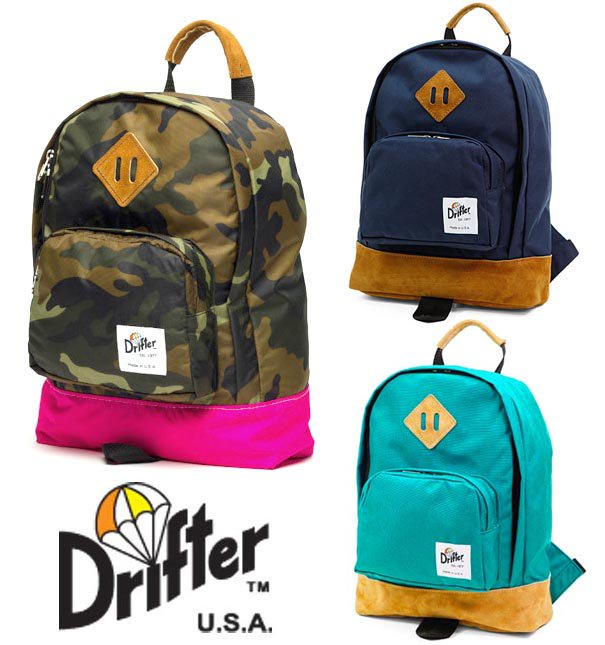 ドリフター(Drifter)KIDS BACK PACK/キッズバックパック/子供用リュックサック/レザー×ナイロン