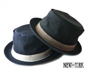 ニューヨークハット(New York Hat)ポークパイハット/帽子/COTTON STINGY/ブラック、ネイビー<img class='new_mark_img2' src='https://img.shop-pro.jp/img/new/icons16.gif' style='border:none;display:inline;margin:0px;padding:0px;width:auto;' />