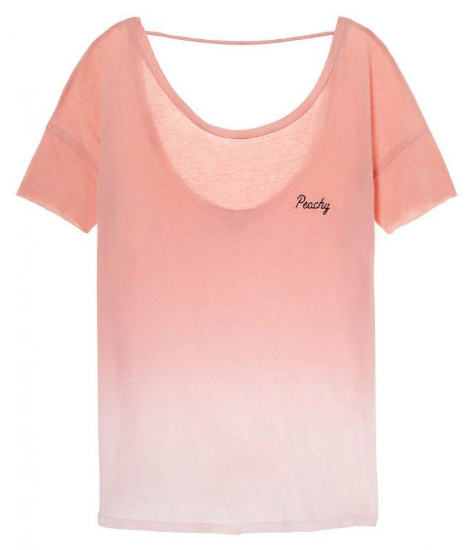 ヴィクトリアシークレットPINK(VictoriasSecretPINK)レディースTシャツ/ピンクグラデーション/Super Soft Open Back T…