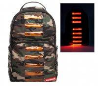 【電池付き】スプレーグラウンド(Sprayground) 光るLEDリュックサック/カモフラ柄バックパック/CAMO LED BAG TO THE FUTU…