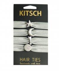 【2017年秋冬新作】Kitsch(キッチュ)アストロジーチャーム付きヘアゴム/ヘアアクセサリー4本セット/ブレスレット/ASTROLOGY CHARM HAIR TIE SET