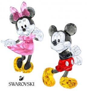 スワロフスキー(SWAROVSKI)ミッキーマウス、ミニーマウスのクリスタルオブジェ/ディズニーコラボ/Mickey Mouse/Minnie Mouse/スワロフスキー社製置物<img class='new_mark_img2' src='https://img.shop-pro.jp/img/new/icons16.gif' style='border:none;display:inline;margin:0px;padding:0px;width:auto;' />