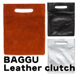 BAGGU(バグゥ)本革レザー&スウェードクラッチバッグ/LPB CLUTCH BAG/バグー<img class='new_mark_img2' src='//img.shop-pro.jp/img/new/icons16.gif' style='border:none;display:inline;margin:0px;padding:0px;width:auto;' />