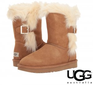 UGG(アグ)Deena ムートンブーツ/レディース/スウェード×シープスキンブーツ<img class='new_mark_img2' src='//img.shop-pro.jp/img/new/icons16.gif' style='border:none;display:inline;margin:0px;padding:0px;width:auto;' />