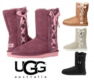 UGG(アグ)Pala サイドリボンムートンブーツ/レディース/リボン付きシープスキンブーツ<img class='new_mark_img2' src='https://img.shop-pro.jp/img/new/icons16.gif' style='border:none;display:inline;margin:0px;padding:0px;width:auto;' />