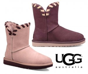 UGG(アグ)Aidah ミディアム丈ムートンブーツ/レディース/リボンステッチシープスキンブーツ<img class='new_mark_img2' src='//img.shop-pro.jp/img/new/icons16.gif' style='border:none;display:inline;margin:0px;padding:0px;width:auto;' />