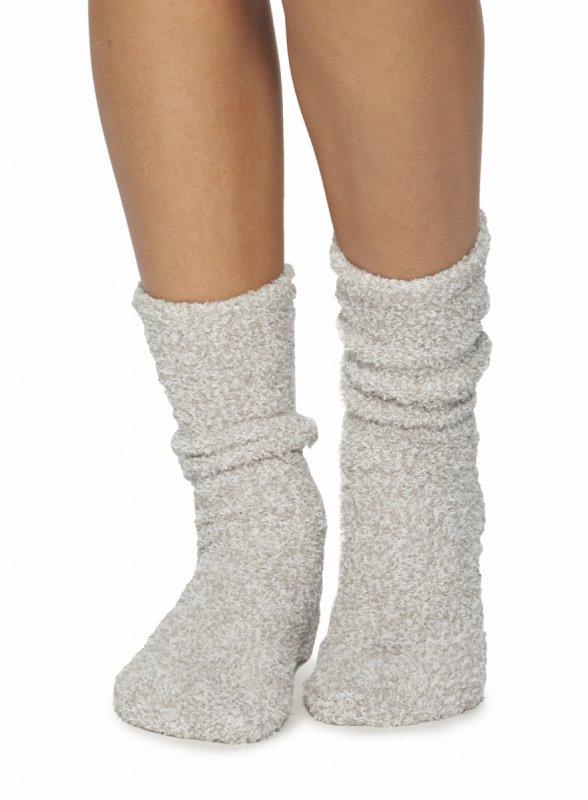 ベアフットドリームス(Barefoot Dreams)Cozychic靴下/ニットソックス/コージーシックソックス(オイスター×ホワイ…