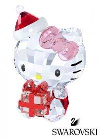 【スワロ社紙袋、ケアカード、箱付き】スワロフスキー(SWAROVSKI)ハローキティクリスタルオブジェ/クリスマスギフト/Hello Kitty Christmas Gift/スワロフスキー社製…