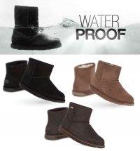 【完全防水】EMU(エミュー)ムートンショートブーツ/Paterson Mini Boots/雨、雪にも対応できるシープスキンレインブ…