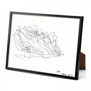 パリ限定!LOUIS VUITTON/ルイヴィトン美術館/フランク・ゲーリーのスケッチ/Sketch by Frank Gehry/リトグラフ/額縁付き