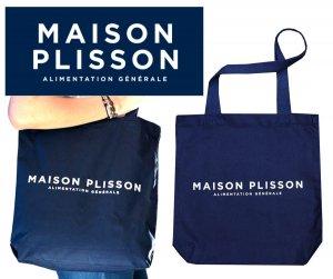 ラ・メゾン・プリソン(La Maison Plisson)コットントートバッグ/ネイビー/エコバッグ