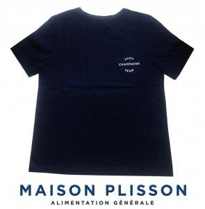 ラ・メゾン・プリソン(La Maison Plisson)Tシャツ/レディース/ネイビー/TSHIRT FEMME