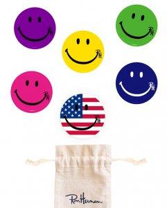 ロンハーマン(Ron Herman)スマイルバッジ6個セット/専用巾着袋付き/Smile Pin Pack