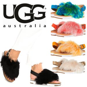 UGG(アグ)ムートンサンダル/HOLLY/ホーリー ファー付きレディースサンダル/シープスキン<img class='new_mark_img2' src='https://img.shop-pro.jp/img/new/icons16.gif' style='border:none;display:inline;margin:0px;padding:0px;width:auto;' />