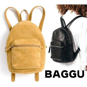 BAGGU(バグゥ)本革レザーバックパック/リュック/LEATHER BACKPACK/バグー/ブラック&ハニーブラウン<img class='new_mark_img2' src='https://img.shop-pro.jp/img/new/icons16.gif' style='border:none;display:inline;margin:0px;padding:0px;width:auto;' />