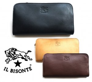 イルビゾンテ(Il Bisonte)ファスナーレザー長財布/C0909P/2018年新入荷モデル