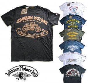 【2018年新作モデル】ジョンソンモータース(Johnson Motors)Tシャツ/ロゴプリント/メンズ半袖<img class='new_mark_img2' src='https://img.shop-pro.jp/img/new/icons16.gif' style='border:none;display:inline;margin:0px;padding:0px;width:auto;' />