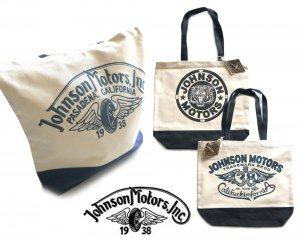 【2018年新作モデル】ジョンソンモータース(Johnson Motors)トートバッグ/ロゴプリント/コットンキャンバス