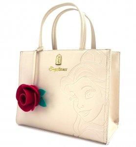 ラウンジフライ(Loungefly)美女と野獣ベル&2Wayショルダーバッグ/ハンドバッグ/Disney Belle Embossed Tote Bag