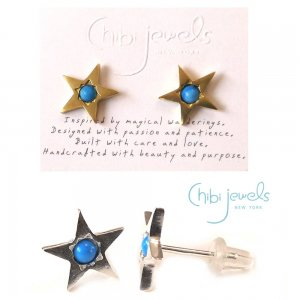 Chibi Jewels(チビジュエルズ)ターコイズスターピアス/星のピアス/Turquoise Star Stud Earrings/E183<img class='new_mark_img2' src='//img.shop-pro.jp/img/new/icons5.gif' style='border:none;display:inline;margin:0px;padding:0px;width:auto;' />