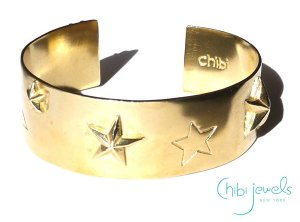 Chibi Jewels(チビジュエルズ)スーパースター星のバングルブレスレット/Super Star Cuff Bracelet/B153<img class='new_mark_img2' src='//img.shop-pro.jp/img/new/icons5.gif' style='border:none;display:inline;margin:0px;padding:0px;width:auto;' />